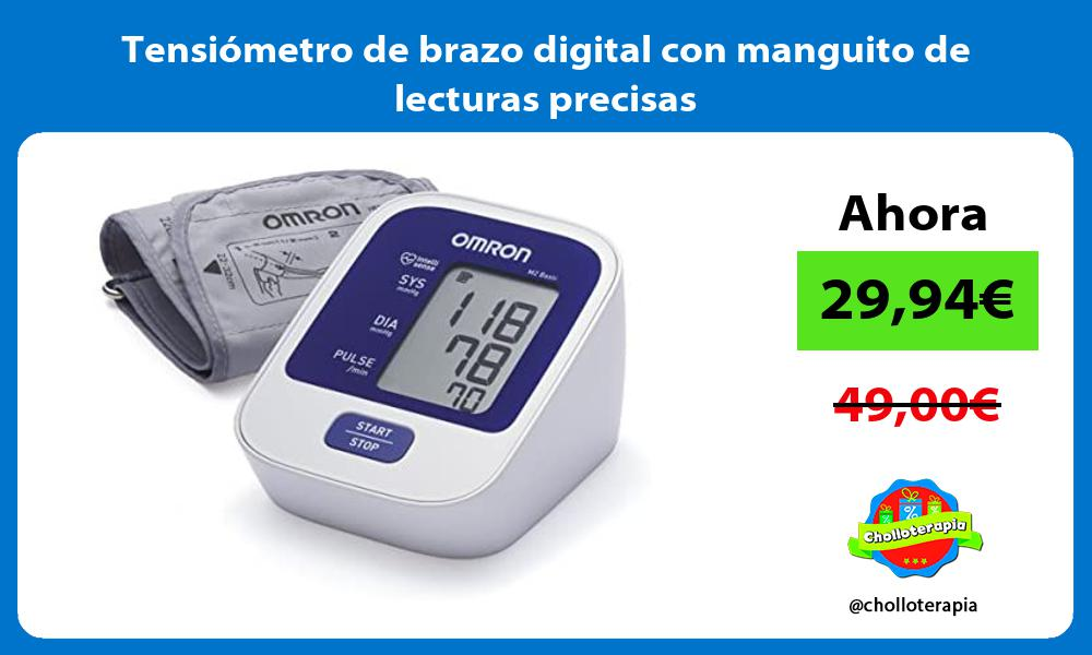 Tensiómetro de brazo digital con manguito de lecturas precisas