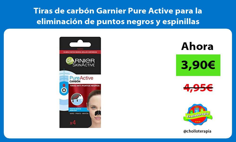 Tiras de carbón Garnier Pure Active para la eliminación de puntos negros y espinillas