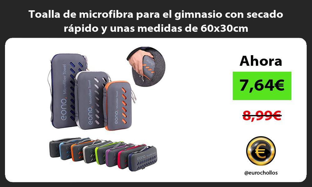 Toalla de microfibra para el gimnasio con secado rápido y unas medidas de 60x30cm
