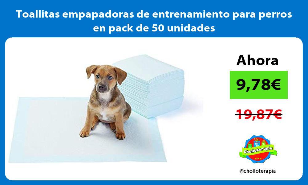 Toallitas empapadoras de entrenamiento para perros en pack de 50 unidades