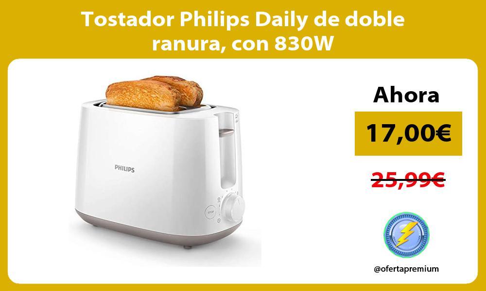 Tostador Philips Daily de doble ranura con 830W