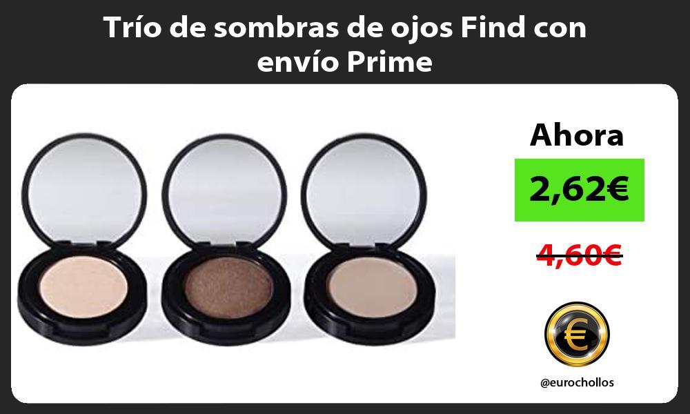 Trío de sombras de ojos Find con envío Prime