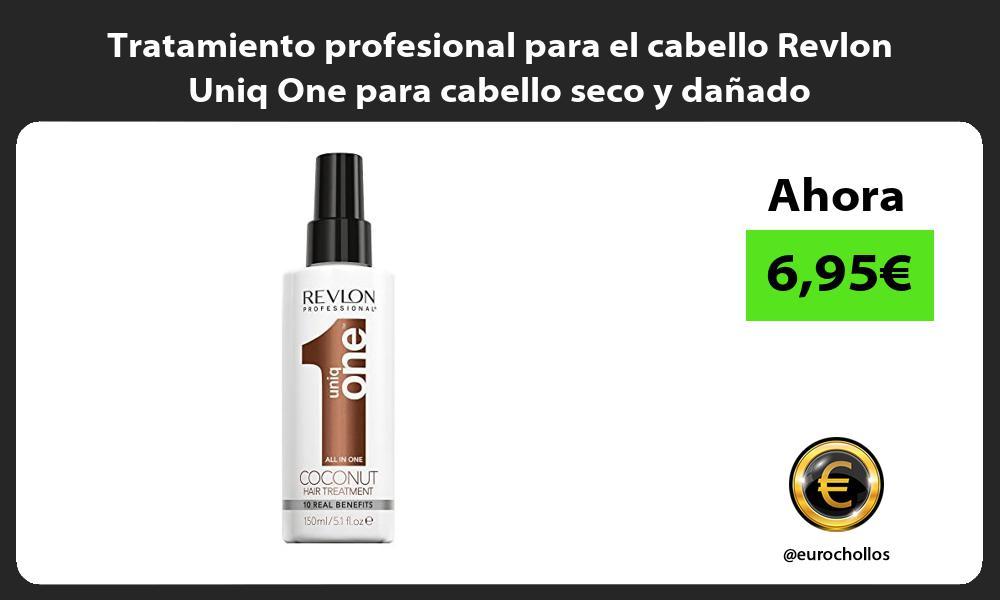 Tratamiento profesional para el cabello Revlon Uniq One para cabello seco y dañado