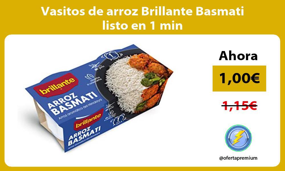 Vasitos de arroz Brillante Basmati listo en 1 min
