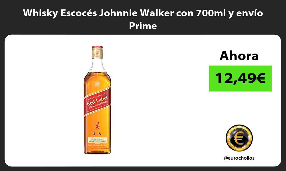 Whisky Escocés Johnnie Walker con 700ml y envío Prime