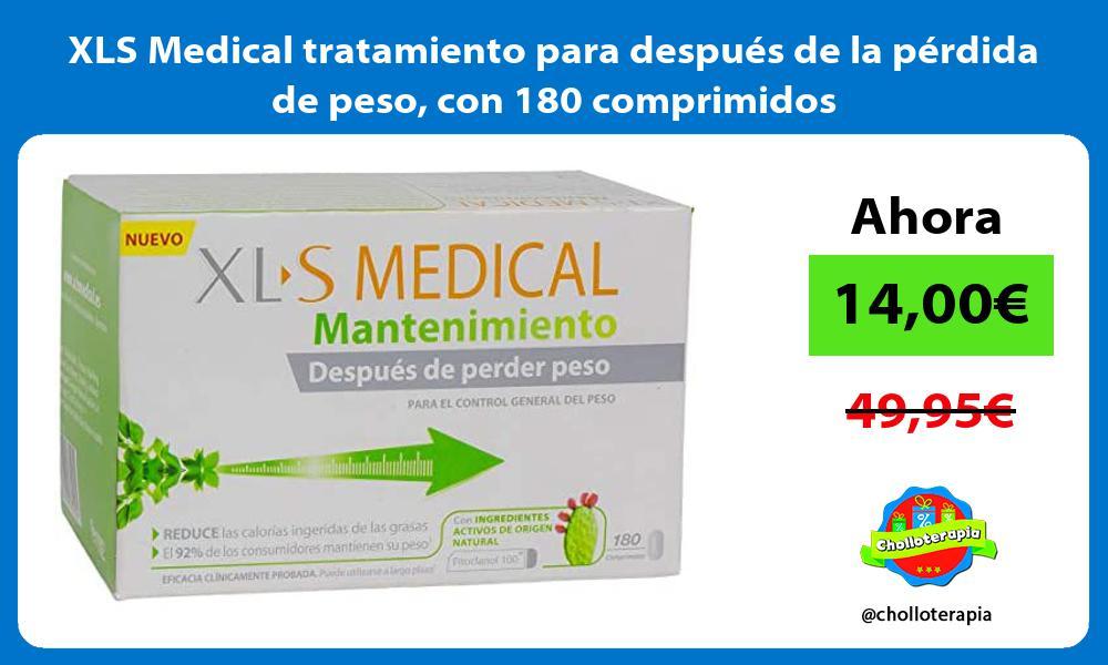 XLS Medical tratamiento para después de la pérdida de peso con 180 comprimidos