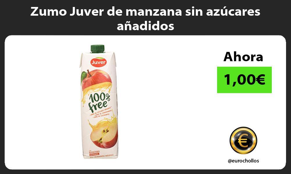 Zumo Juver de manzana sin azúcares añadidos