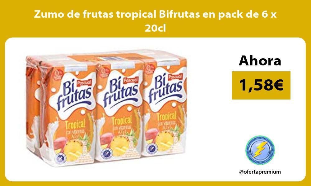Zumo de frutas tropical Bifrutas en pack de 6 x 20cl