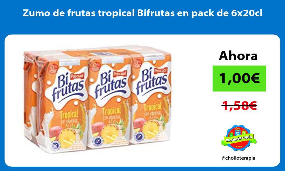 Zumo de frutas tropical Bifrutas en pack de 6x20cl