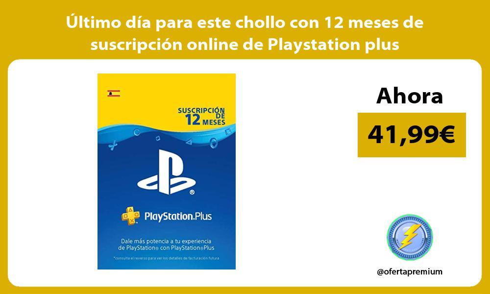 ltimo día para este chollo con 12 meses de suscripción online de Playstation plus