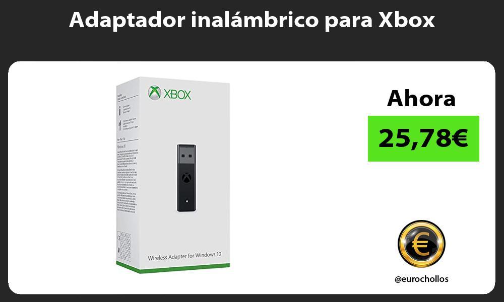 Adaptador inalámbrico para Xbox