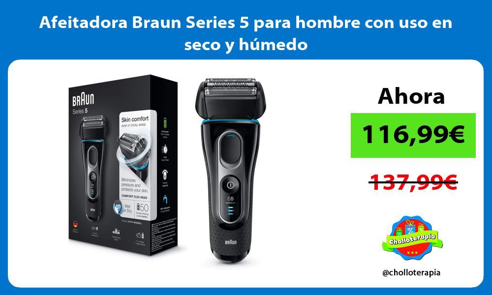 Afeitadora Braun Series 5 para hombre con uso en seco y húmedo