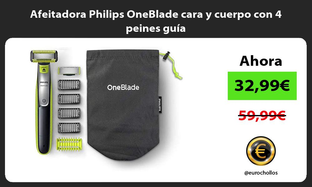 Afeitadora Philips OneBlade cara y cuerpo con 4 peines guía