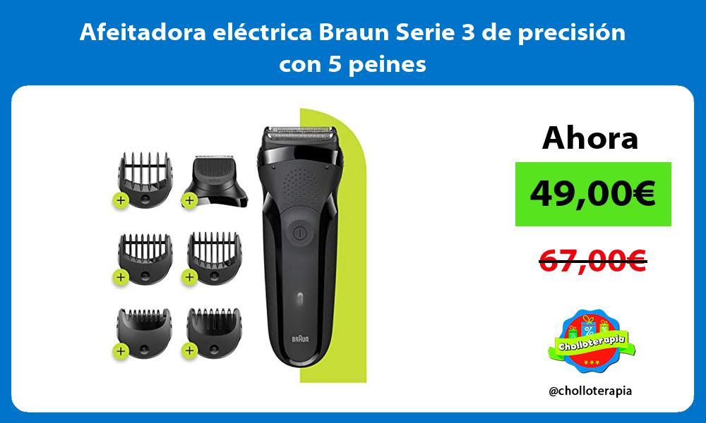 Afeitadora eléctrica Braun Serie 3 de precisión con 5 peines