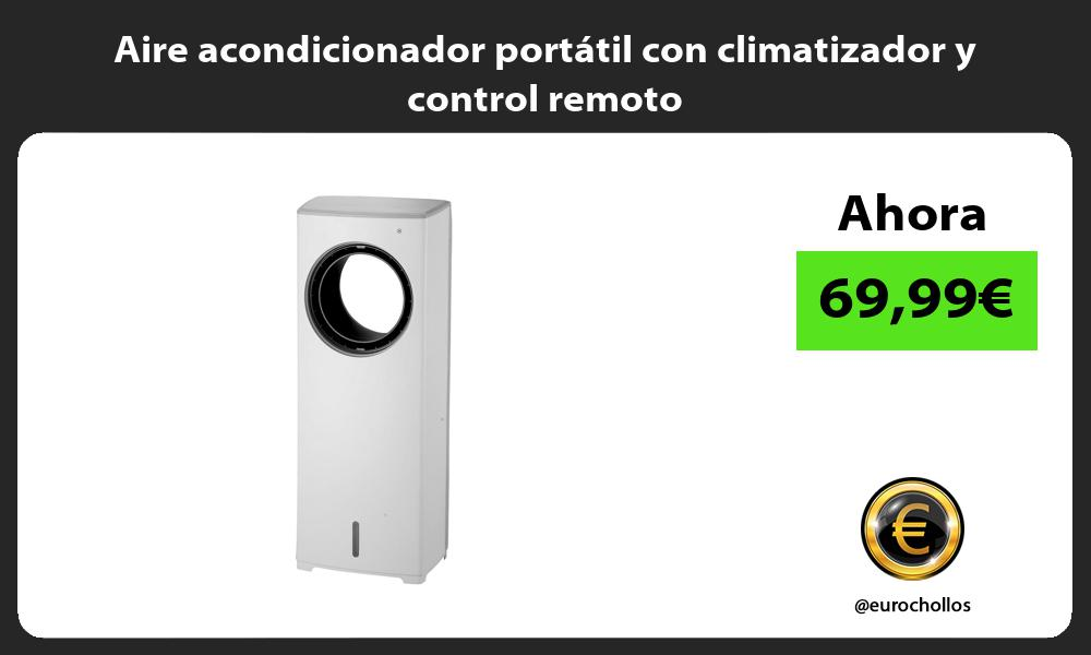 Aire acondicionador portátil con climatizador y control remoto