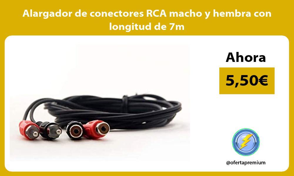 Alargador de conectores RCA macho y hembra con longitud de 7m