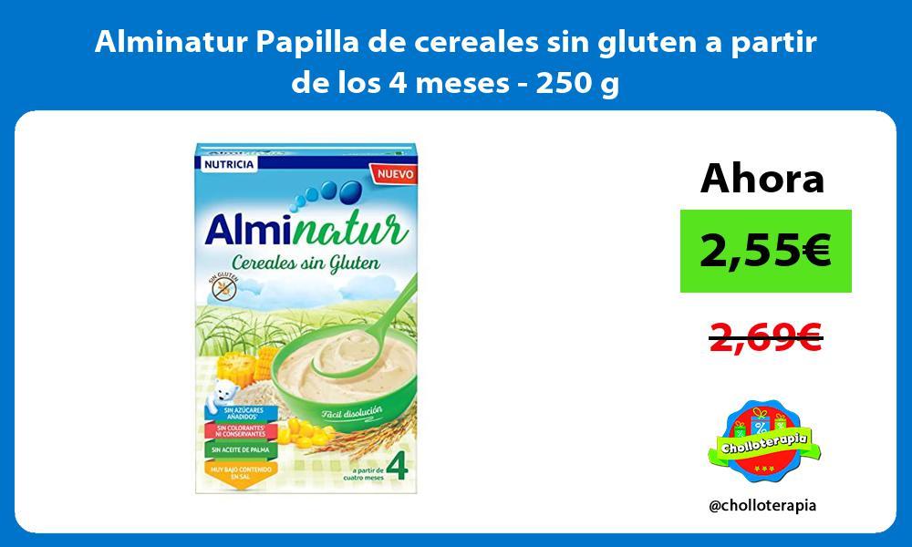 Alminatur Papilla de cereales sin gluten a partir de los 4 meses 250 g