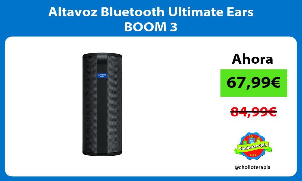 Altavoz Bluetooth Ultimate Ears BOOM 3
