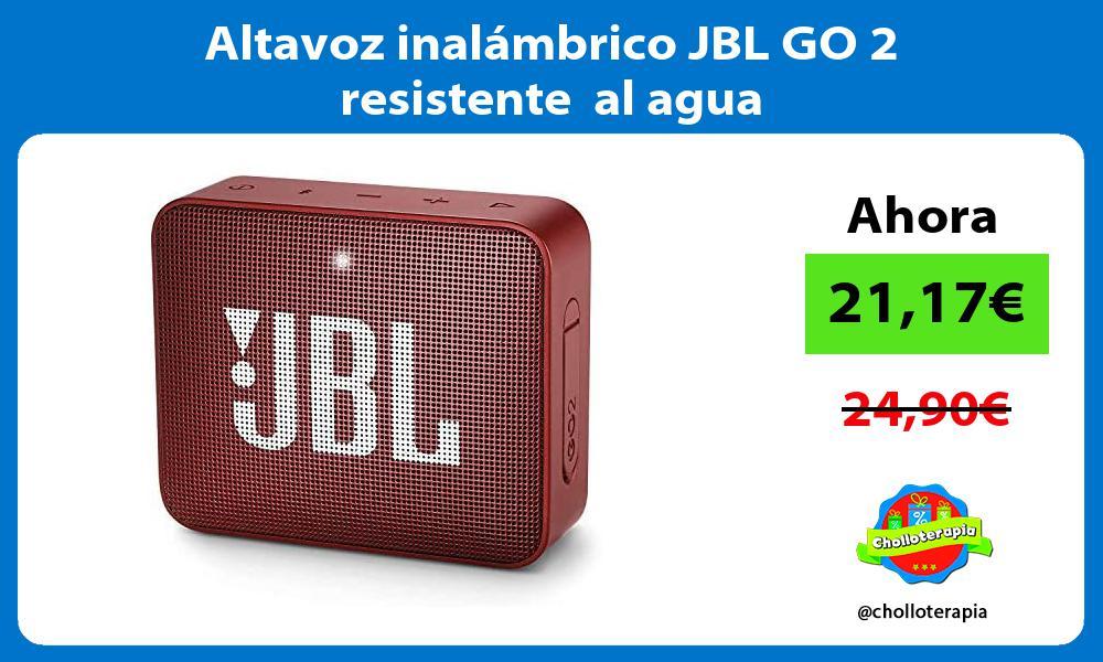 Altavoz inalámbrico JBL GO 2 resistente al agua