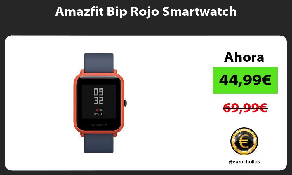 Amazfit Bip Rojo Smartwatch