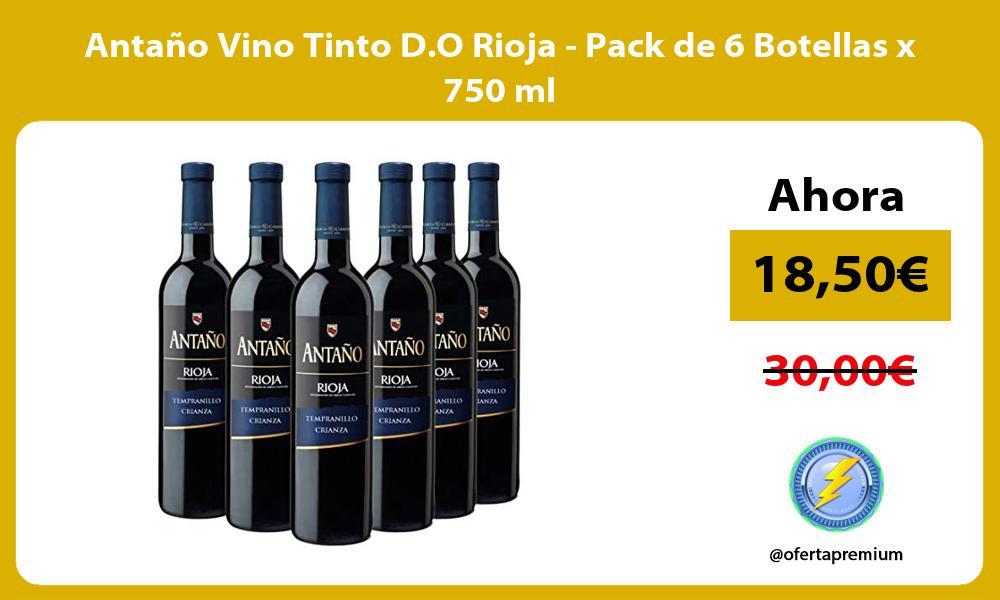 Antaño Vino Tinto D O Rioja Pack de 6 Botellas x 750 ml