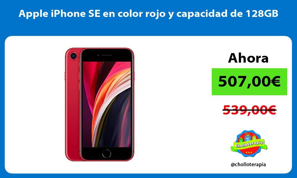 Apple iPhone SE en color rojo y capacidad de 128GB