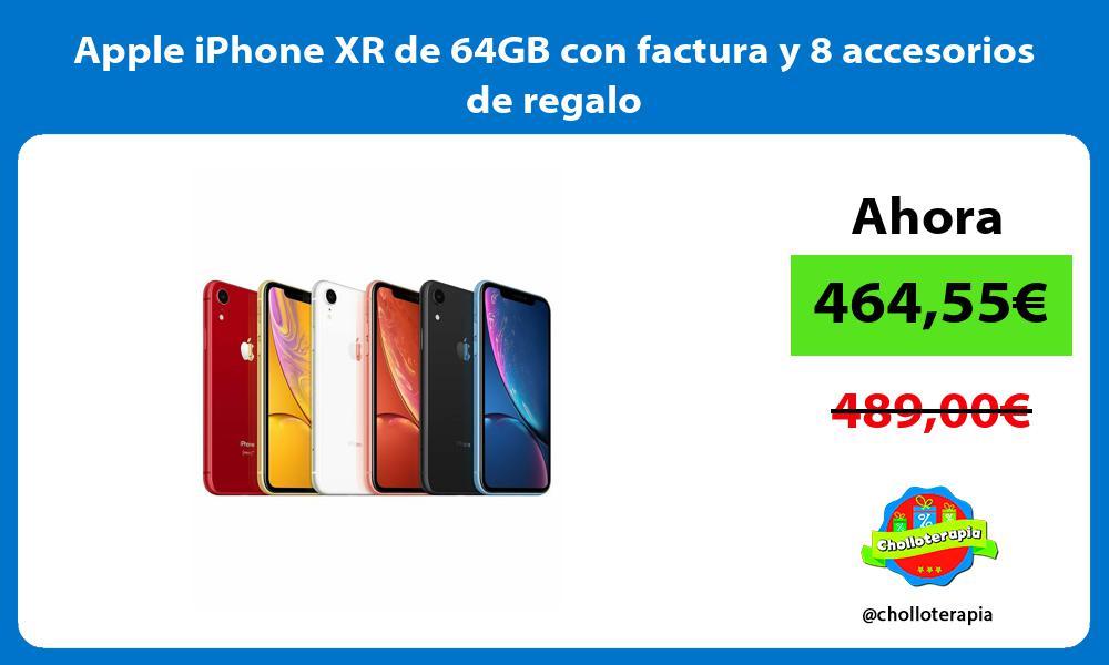 Apple iPhone XR de 64GB con factura y 8 accesorios de regalo