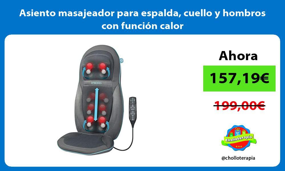 Asiento masajeador para espalda cuello y hombros con función calor