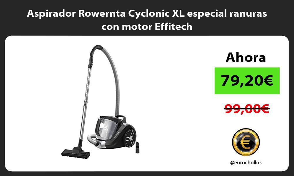Aspirador Rowernta Cyclonic XL especial ranuras con motor Effitech