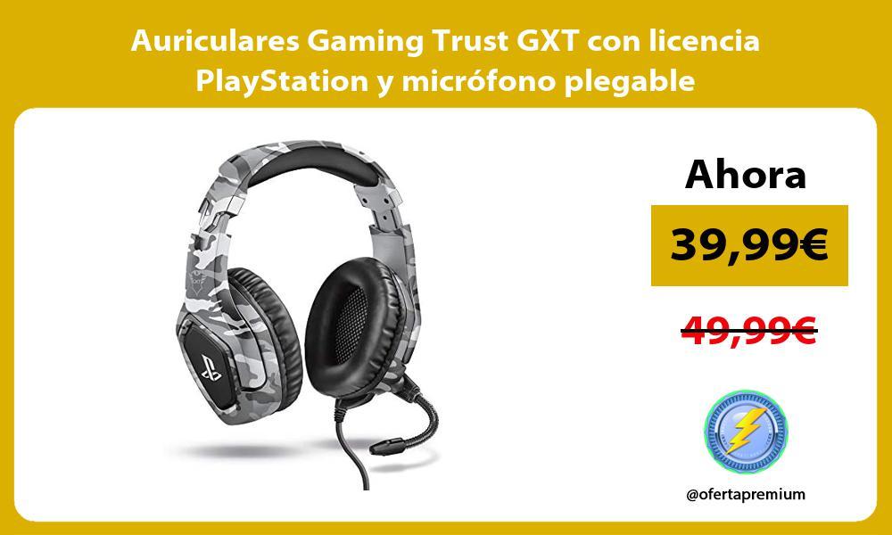 Auriculares Gaming Trust GXT con licencia PlayStation y micrófono plegable