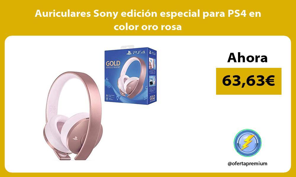 Auriculares Sony edición especial para PS4 en color oro rosa