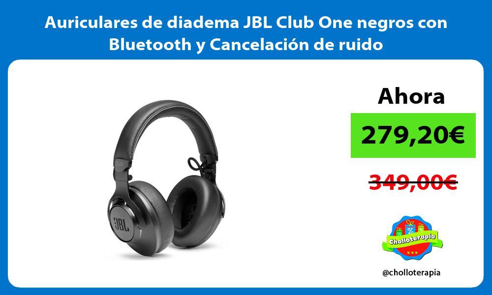 Auriculares de diadema JBL Club One negros con Bluetooth y Cancelación de ruido