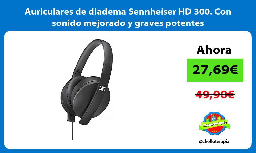 Auriculares de diadema Sennheiser HD 300 Con sonido mejorado y graves potentes
