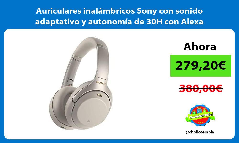 Auriculares inalámbricos Sony con sonido adaptativo y autonomía de 30H con Alexa