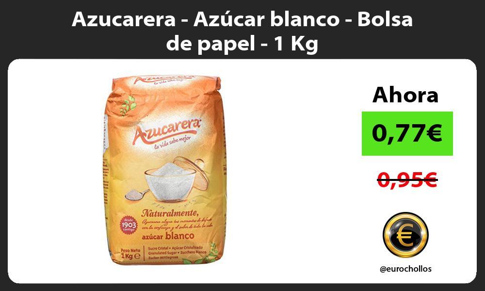 Azucarera Azúcar blanco Bolsa de papel 1 Kg