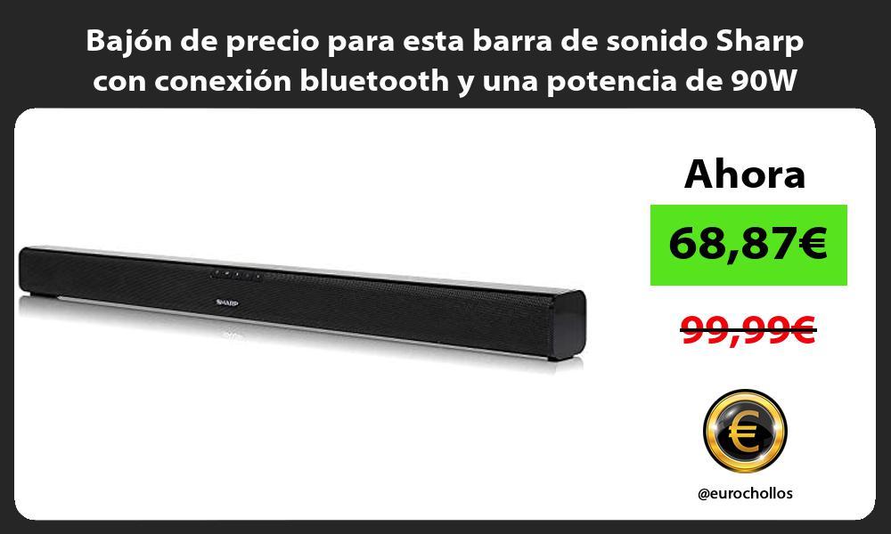 Bajón de precio para esta barra de sonido Sharp con conexión bluetooth y una potencia de 90W