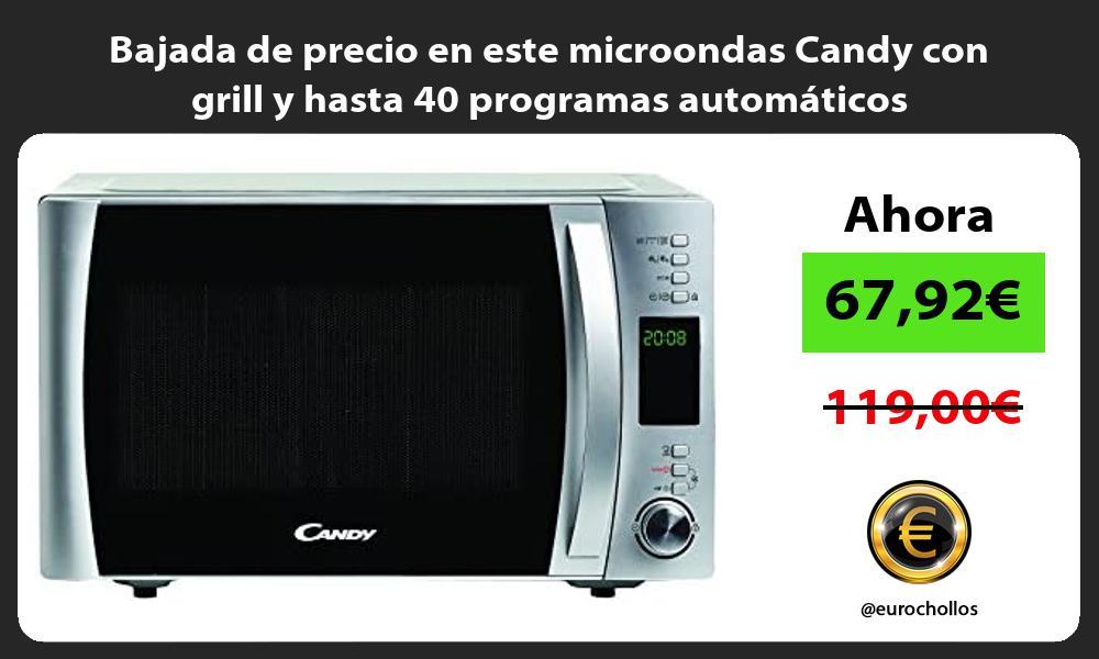 Bajada de precio en este microondas Candy con grill y hasta 40 programas automáticos