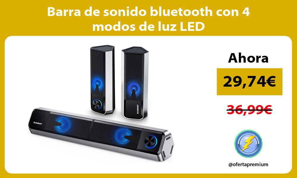Barra de sonido bluetooth con 4 modos de luz LED