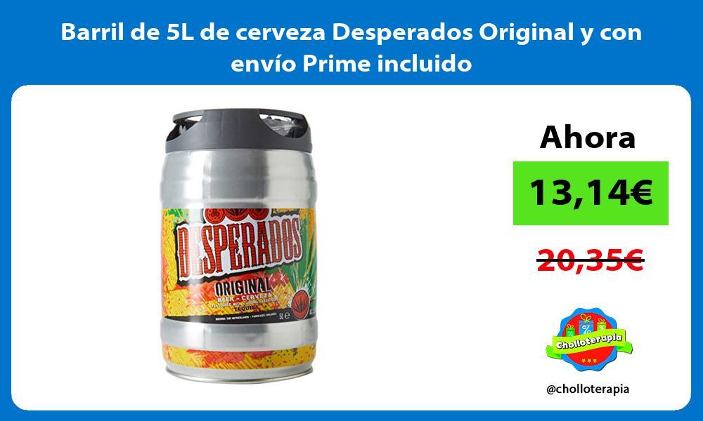 Barril de 5L de cerveza Desperados Original y con envío Prime incluido