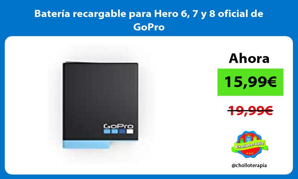 Batería recargable para Hero 6 7 y 8 oficial de GoPro