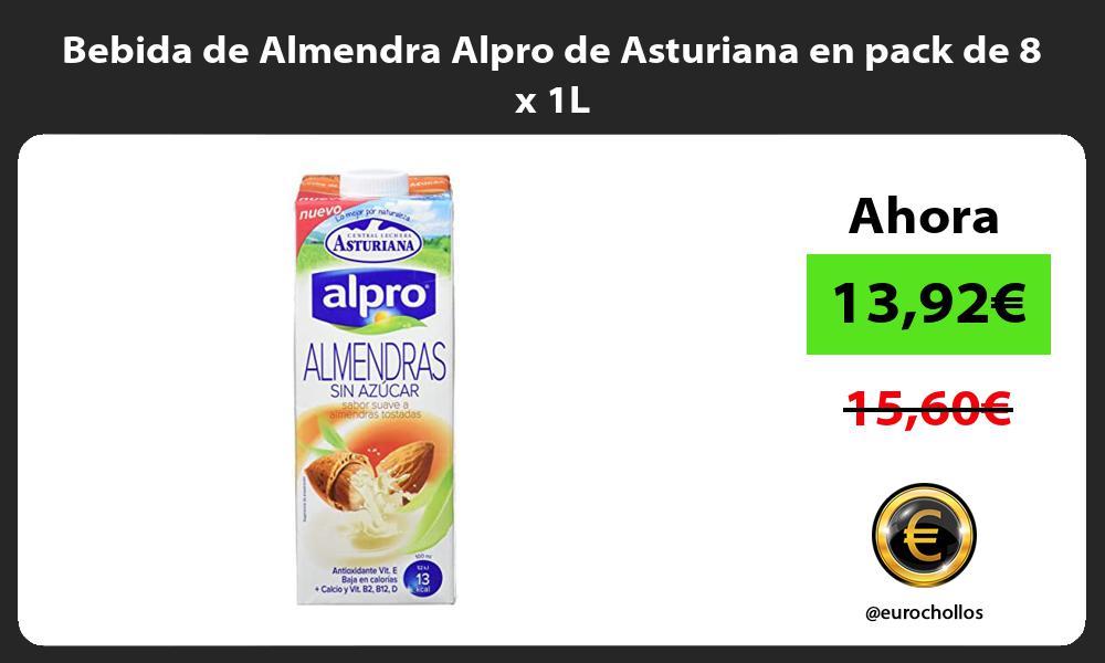 Bebida de Almendra Alpro de Asturiana en pack de 8 x 1L