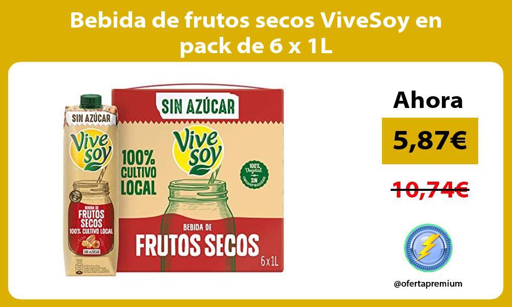 Bebida de frutos secos ViveSoy en pack de 6 x 1L