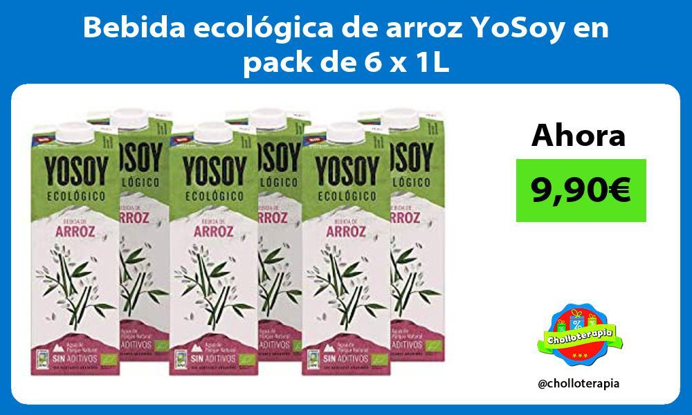 Bebida ecológica de arroz YoSoy en pack de 6 x 1L