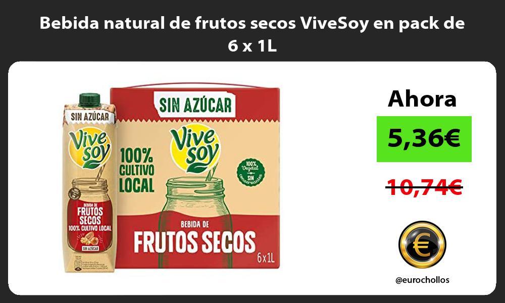 Bebida natural de frutos secos ViveSoy en pack de 6 x 1L
