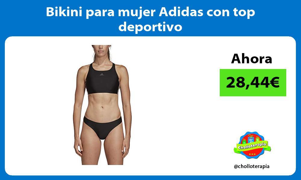 Bikini para mujer Adidas con top deportivo