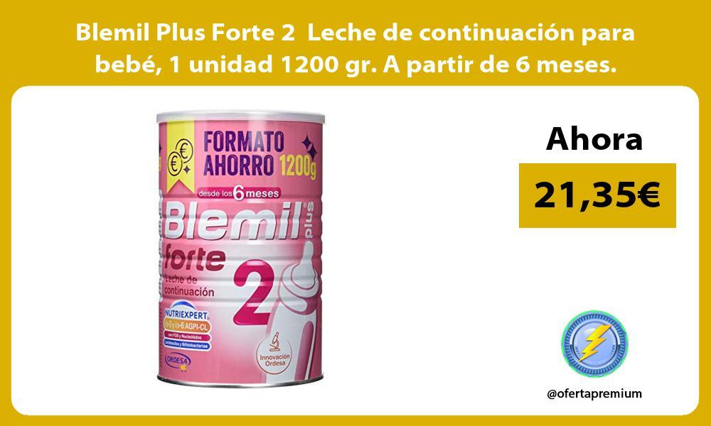 Blemil Plus Forte 2 Leche de continuación para bebé 1 unidad 1200 gr A partir de 6 meses