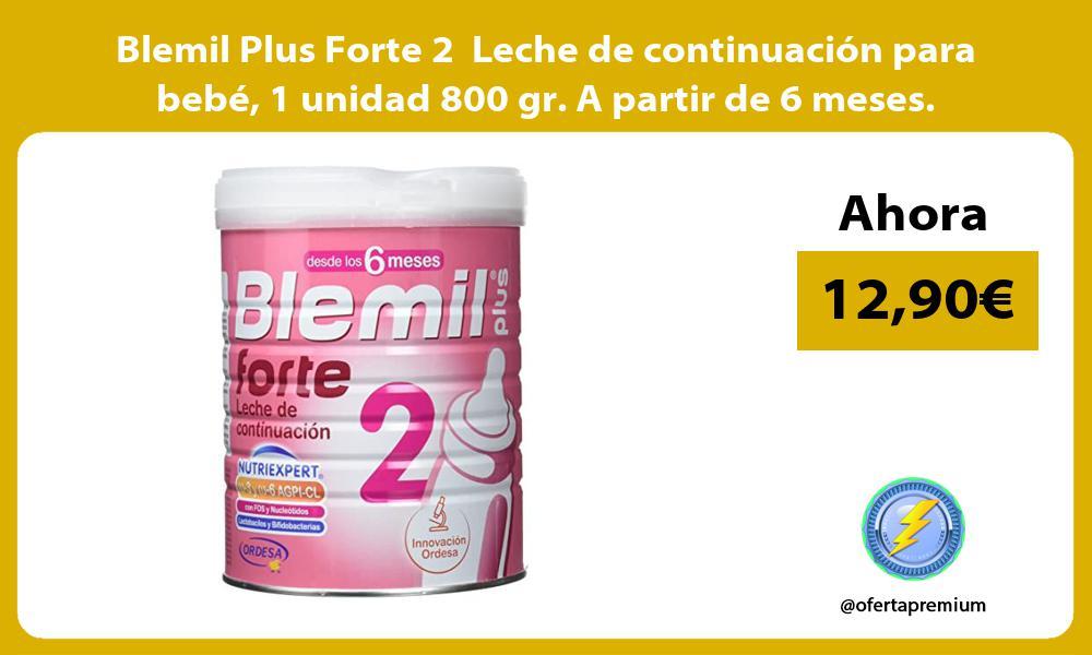 Blemil Plus Forte 2 Leche de continuación para bebé 1 unidad 800 gr A partir de 6 meses