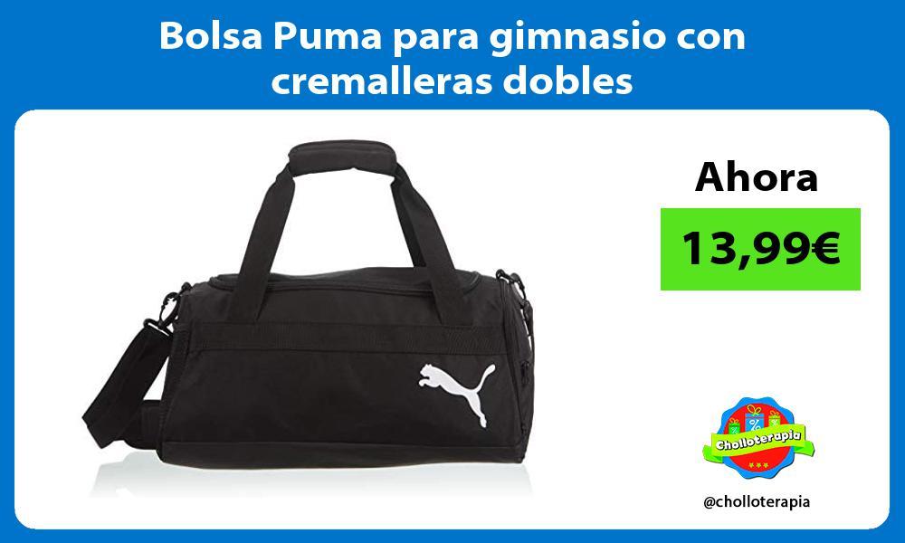 Bolsa Puma para gimnasio con cremalleras dobles