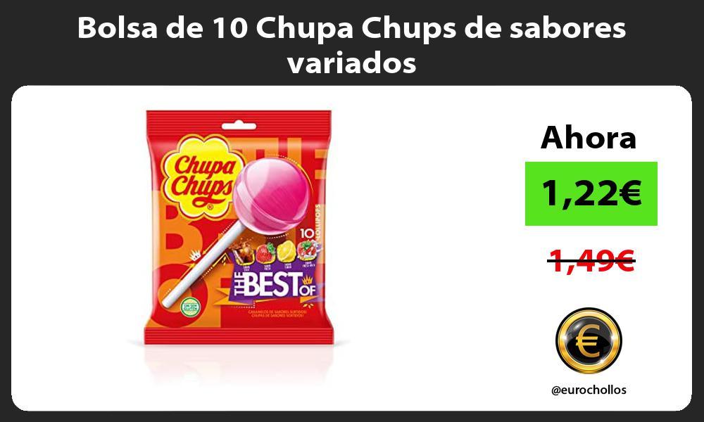 Bolsa de 10 Chupa Chups de sabores variados