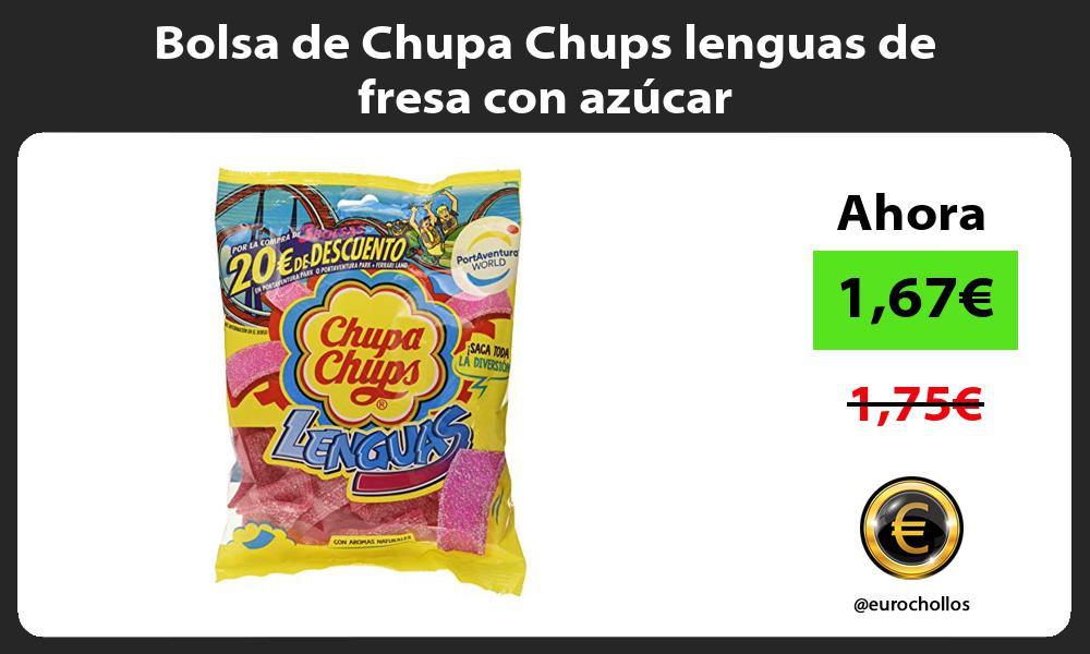 Bolsa de Chupa Chups lenguas de fresa con azúcar